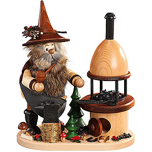 Smokers Professions Smoker - Forest Gnome on Board Blacksmith - 26 cm / 10 inch