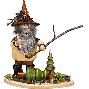 Smokers Misc. Smokers Smoker - Forest Gnome on Board: Lumberman at Work - 26 cm / 10 inch