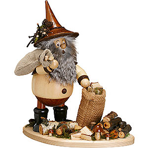 Smokers Misc. Smokers Smoker - Forest Gnome on Board: Twig Gatherer - 26 cm / 10 inch