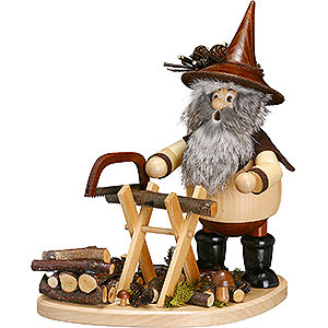 Smokers Misc. Smokers Smoker - Forest Gnome with Sawhorse on Board - 26 cm / 10 inch