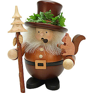 Smokers Misc. Smokers Smoker - Forest Man with Squirrel Natural Wood - 17,5 cm / 7 inch