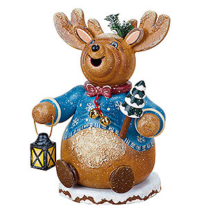 Smokers Famous Persons Smoker - Gnome Rudolph Reindeer 14 cm / 5 inch