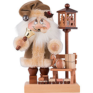 Smokers Santa Claus Smoker - Gnome Santa on a Bench - 28,5 cm / 11 inch