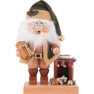 Smokers Santa Claus Smoker - Gnome Santa with Fire Place - 28,5 cm / 11.2 inch