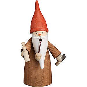 Smokers Professions Smoker - Gnome Wood Turner - 16 cm / 6.3 inch