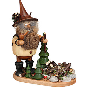 Smokers Hobbies Smoker - Gnome at the Bonfire - 26 cm / 10.2 inch