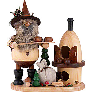 Smokers Professions Smoker - Gnome on Board - Baker - 26 cm / 10.2 inch