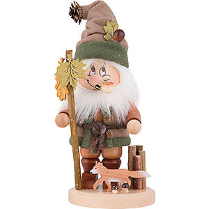 Smokers Misc. Smokers Smoker - Gnome with Fox - 34 cm / 13.4 inch