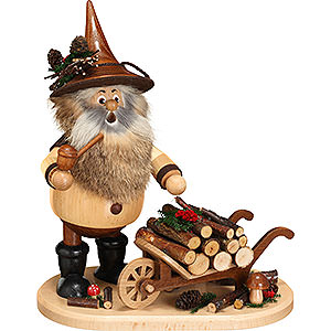 Smokers Professions Smoker - Gnome with Wheel Barrow - 25 cm / 9.8 inch