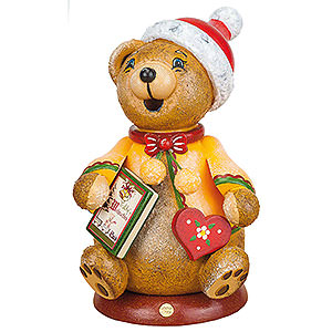 Small Figures & Ornaments Animals Bears Smoker - Hubiduu - Teddy's Christmas Story - 14 cm / 5,5 inch