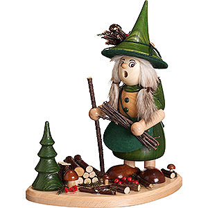 Smokers Misc. Smokers Smoker - Lady Gnome on Board, Green - 25 cm / 10 inch