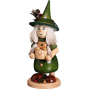Smokers Misc. Smokers Smoker - Lady Gnome with Cooking Pot, Green - 25 cm / 10 inch