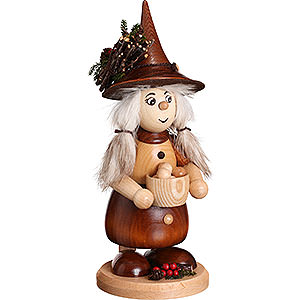 Smokers Misc. Smokers Smoker - Lady Gnome with Cooking Pot, Natural - 25 cm / 10 inch