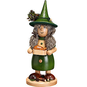 Smokers Misc. Smokers Smoker - Lady Gnome with Pan, Green - 25 cm / 10 inch