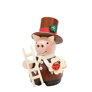Smokers Professions Smoker - Lucky Pig Chimney Sweep Natural - 10 cm / 4 inch