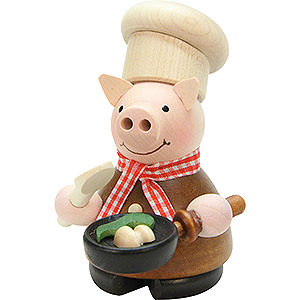 Smokers Professions Smoker - Lucky Pig Cook Natural - 10 cm / 4 inch