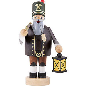 Smokers Professions Smoker - Miner with Axe and Lamp - 20 cm / 8 inch