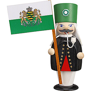 Smokers Professions Smoker - Miner with Flag - 16 cm / 6.3 inch