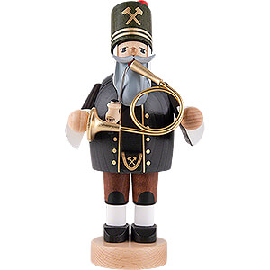 Smokers Professions Smoker - Miner with Horn - 20 cm / 8 inch