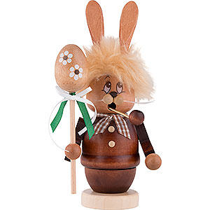 Smokers Animals Smoker - Mini-Gnome Bunny with Stick - 16 cm / 6.3 inch