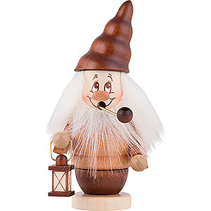 Smokers Misc. Smokers Smoker - Mini-Gnome with Lantern - 16,5 cm / 6,5 inch