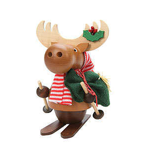 Smokers Animals Smoker - Moose with Ski - 13,0 cm / 5 inch