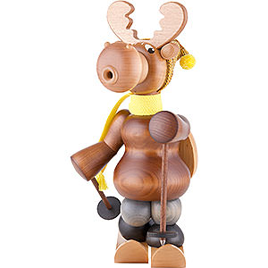 Smokers Animals Smoker - Moose with Skis - 27 cm / 11 inch
