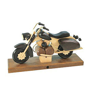 Smokers Hobbies Smoker - Motorcycle Chopper Black 27x18x8 cm / 11x7x3 inch
