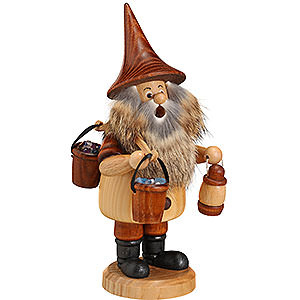 Smokers Professions Smoker - Mountain Gnome with Bucket - 18 cm / 7 inch