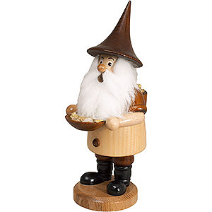 Smokers Professions Smoker - Mountain Gnome with Ore Bowl - 18 cm / 7 inch