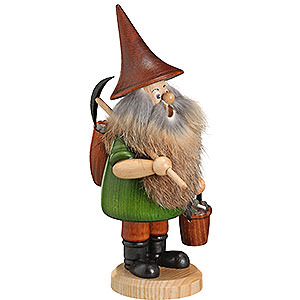 Smokers Professions Smoker - Mountain Gnome with Pick - 18 cm / 7 inch