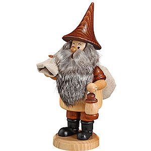 Smokers Professions Smoker - Mountain Gnome with Sack - 18 cm / 7 inch