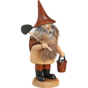Smokers Professions Smoker - Mountain Gnome with Shovel - 18 cm / 7 inch