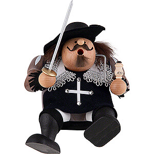 Smokers Famous Persons Smoker - Musketeer Aramis - Edge Stool - 16 cm / 6 inch