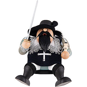 Smokers Famous Persons Smoker - Musketeer Athos - Edge Stool - 16 cm / 6 inch