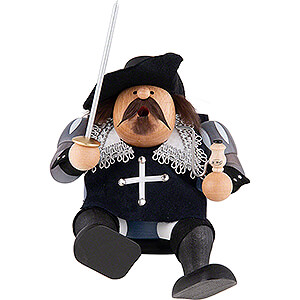 Smokers Famous Persons Smoker - Musketeer Porthos - Edge Stool - 16 cm / 6 inch