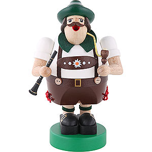 Smokers Professions Smoker - Octoberfest Musician with Clarinet - 16 cm / 6 inch