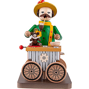 Smokers Professions Smoker - Organ Grinder with Music Box - 17 cm / 6.7 inch