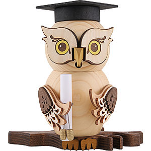 Smokers Professions Smoker - Owl Bachelor - 15 cm / 5.9 inch
