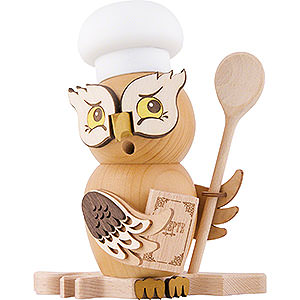 Smokers Professions Smoker - Owl Cook/Chef - 15 cm / 5.9 inch