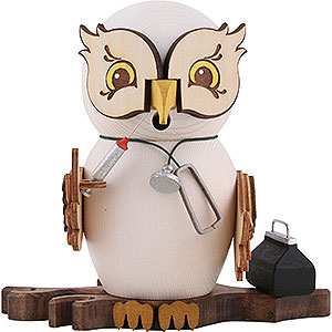 Smokers Professions Smoker - Owl Doctor - 15 cm / 5.9 inch