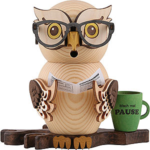 Smokers Hobbies Smoker - Owl Four-Eyed Owl - 15 cm / 5.9 inch