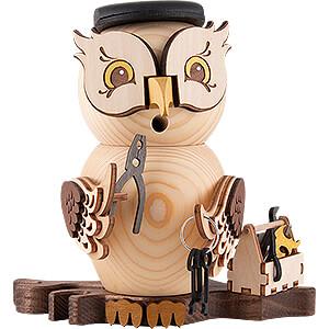 Smokers Professions Smoker - Owl Mechanic - 15 cm / 5.9 inch