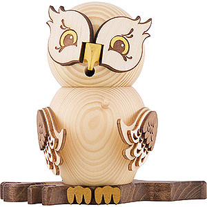 Smokers Animals Smoker - Owl Natural Wood - 15 cm / 5.9 inch