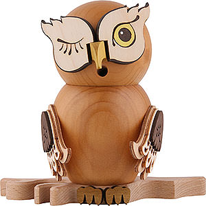 Smokers Animals Smoker - Owl Stained Wood - 15 cm / 5.9 inch