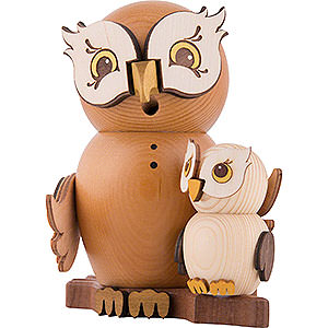 Smokers Animals Smoker - Owl with Child - 15 cm / 5.9 inch
