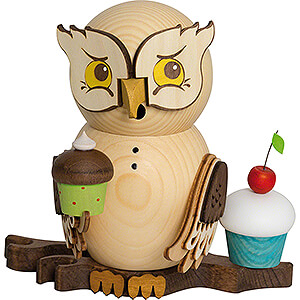 Smokers All Smokers Smoker - Owl with Muffins - 15 cm / 5.9 inch