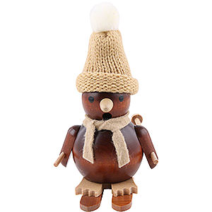 Smokers Hobbies Smoker - Penguin on Ski Natural Wood - 11 cm / 4 inch