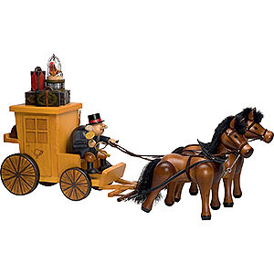 Smokers Professions Smoker - Post Horse and Carriage - Edge Stool - 32x70 cm / 13x28 inch