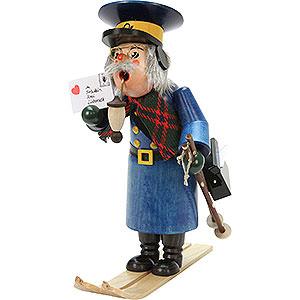 Smokers Professions Smoker - Postman with Ski - 27 cm / 11 inch